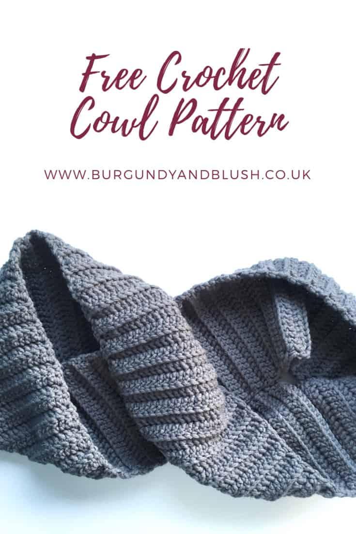 Pin it! Free crochet cowl pattern