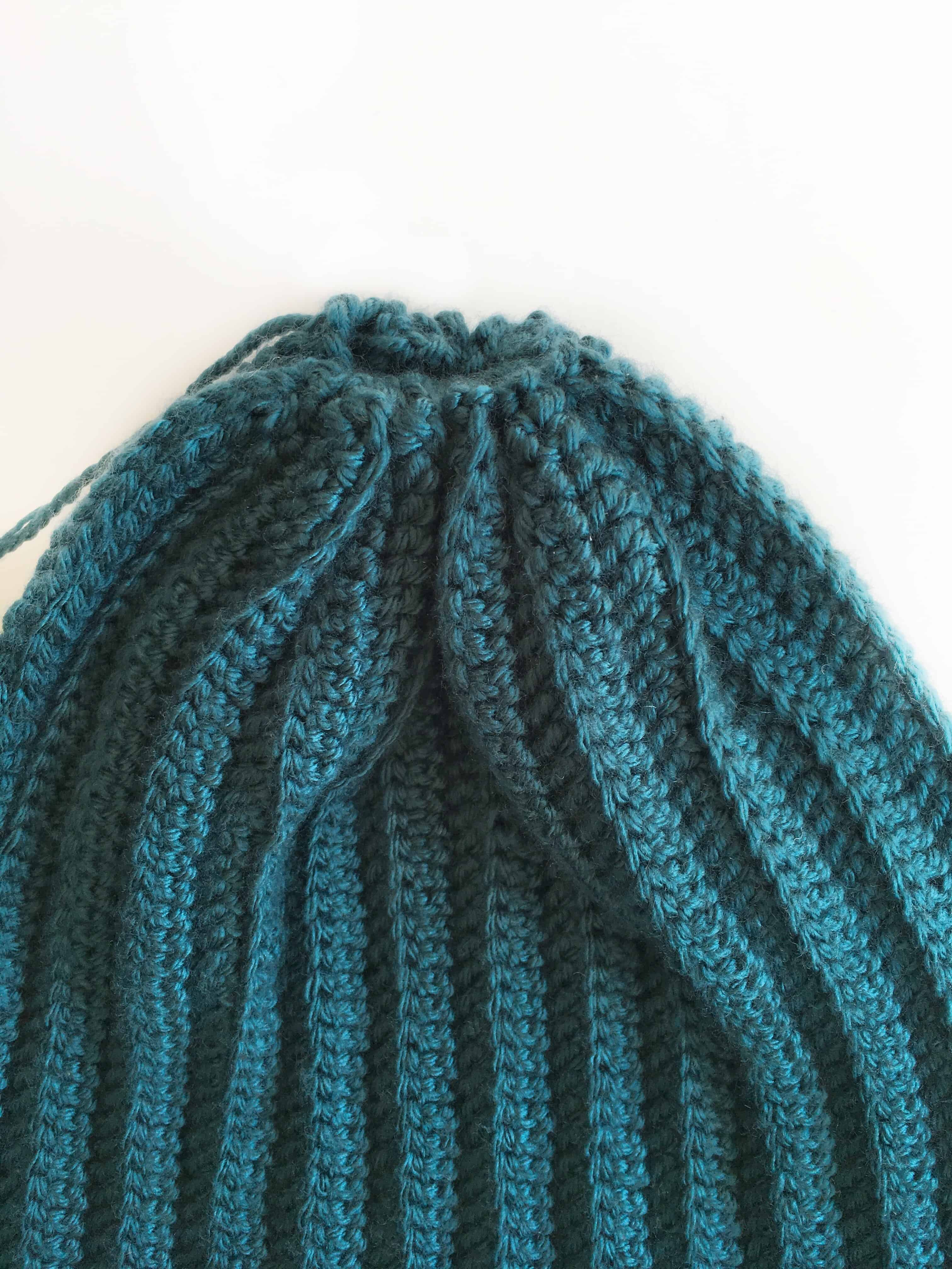 Free ribbed beanie pattern