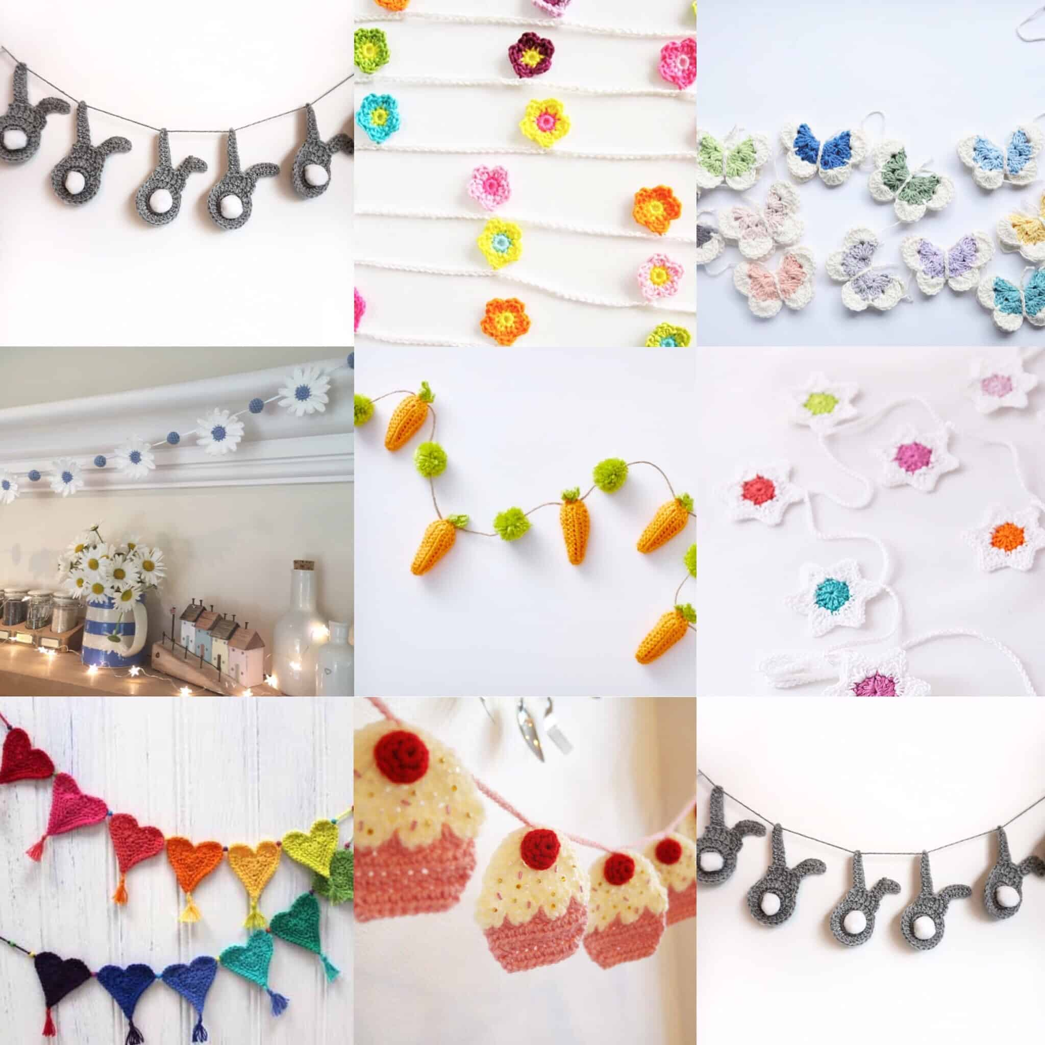 10 Free Crochet Garland Patterns Burgundy And Blush