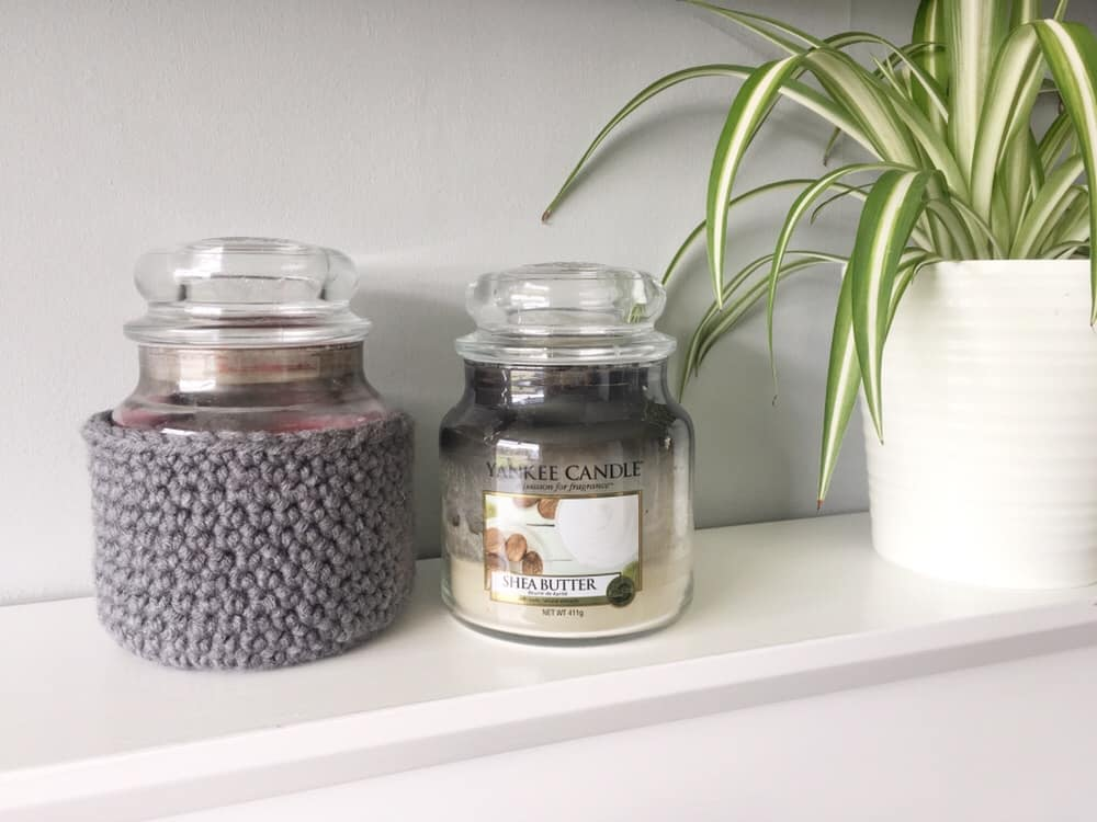 Crochet candle cover