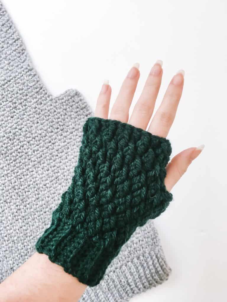 Crochet Fingerless Mittens Pattern