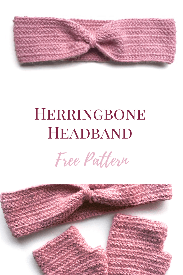 Herringbone Crochet Headband Pattern