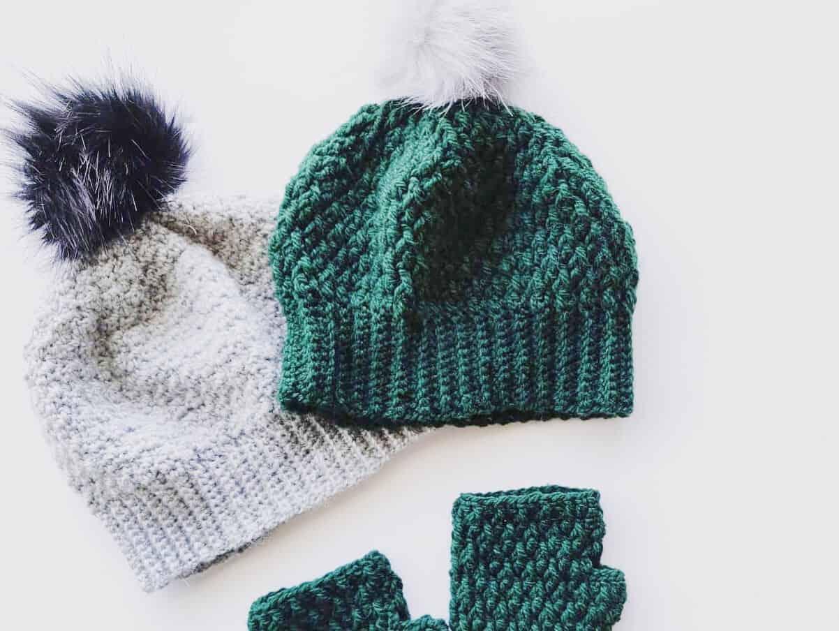 Alpine Stitch Beanie Crochet Pattern