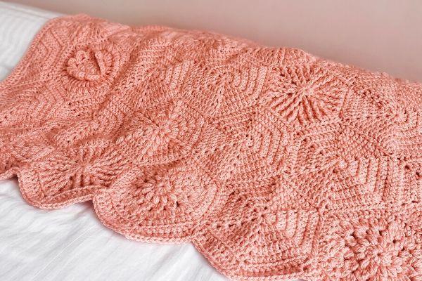 Crochet hexagon blanket pattern