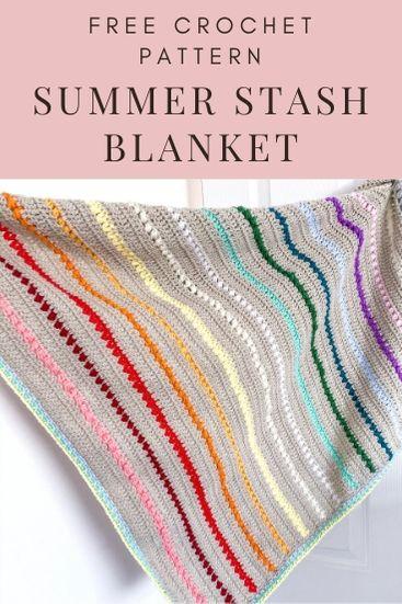 Summer Stash Crochet Blanket Pattern