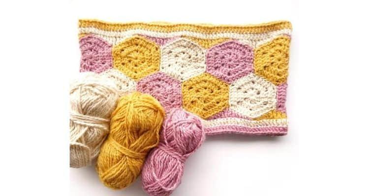 Hexagon Crochet Cowl Pattern