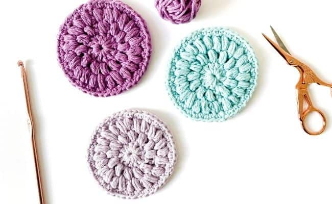 Crochet face pads pattern