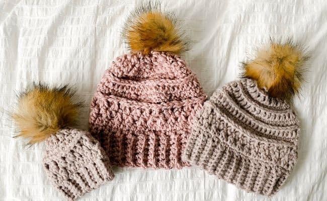 one skein crochet beanie pattern