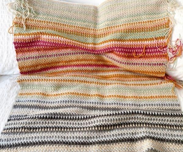 Crochet Temperature Blanket Muted Palette