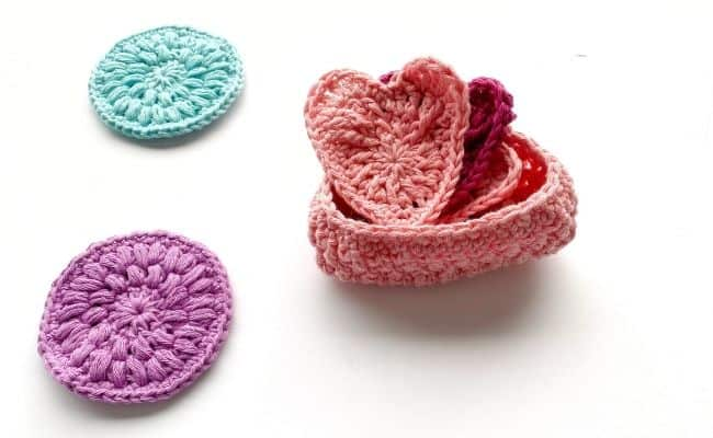 Crochet Heart Face Scrubbies