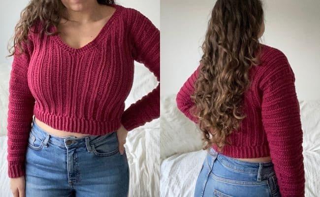 Lion Brand Yarn Feels Like Butta Sweater Pattern