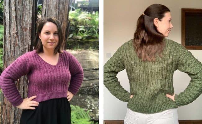 cropped crochet sweater pattern