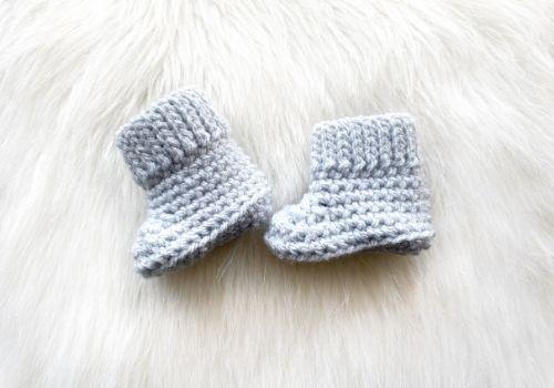 Newborn Baby Booties Crochet Pattern