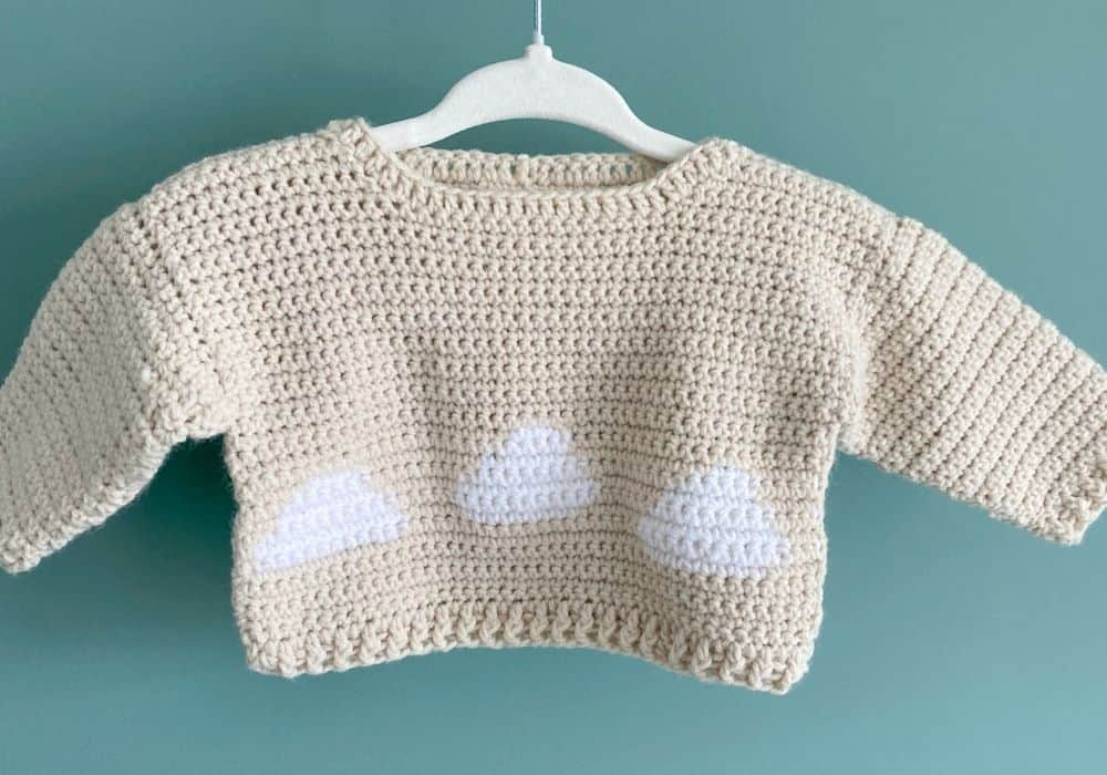 Cloud Baby Crochet Sweater