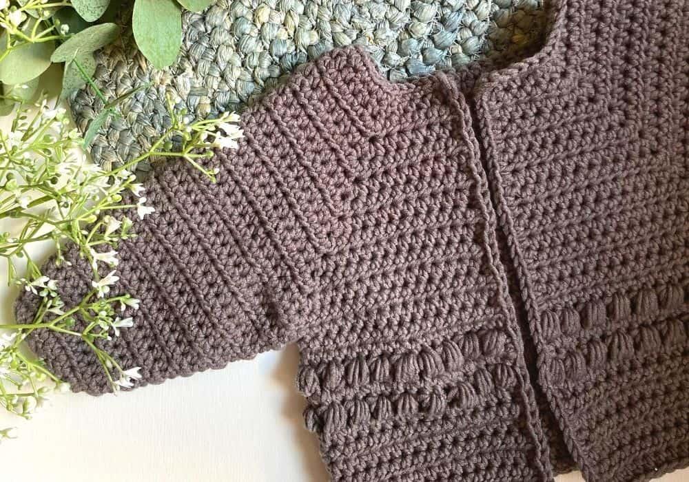Baby Bobble Cardigan Crochet Pattern