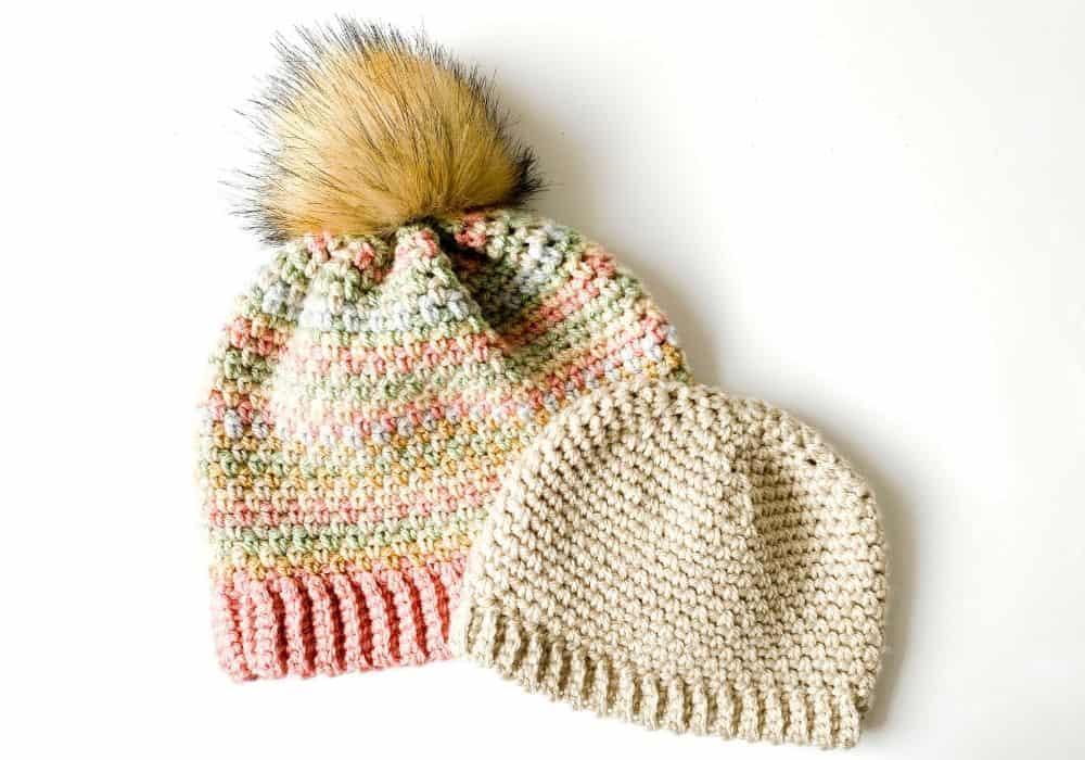 Moss Stitch Beanie Crochet Pattern